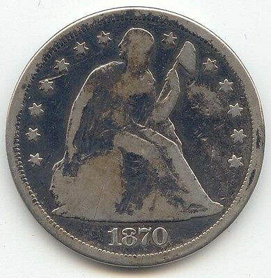 1870 Seated Liberty Dollar, VG Details