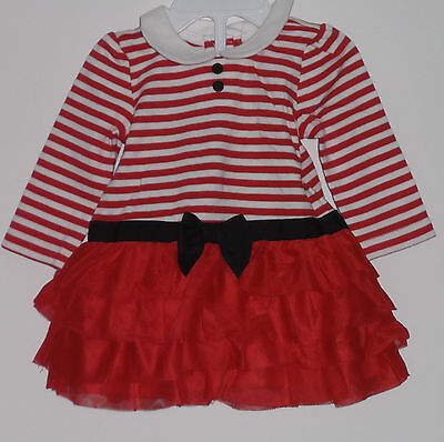Nwt Gymboree Baby Girl Holiday Shop Red Christmas Tutu Dress Size 0-3 Months