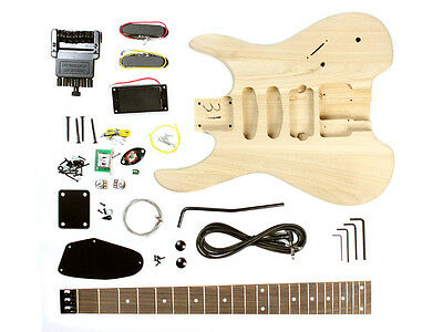 Headless Electric Guitar DIY Kit - Unfinished Project Luthier