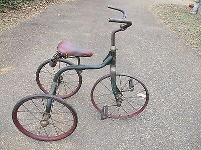Rare 1920's 30's Sidway Topliff Tricycle Great Original Paint Trike Velocipede