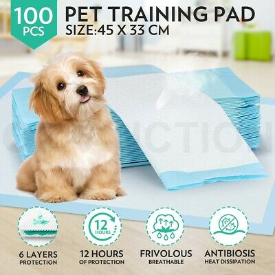 100pcs Super Absorbent Pet Puppy Dog Cat Indoor Toilet Training Pads 45x33cm