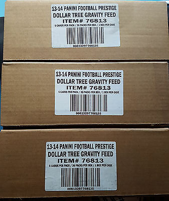3x NFL 2013 Prestigio De Panini Football Retail Pack 36 Box 180Cards / Sellado