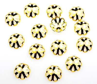 100 Gold Plated Scalloped Bead caps Bead Cap Fits Beads 10 - 14MM