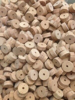 """Cork Rings, 100 Extra Select Natural, 1 1/4"""" x 1/2"""" x 1/4"""" Hole"""