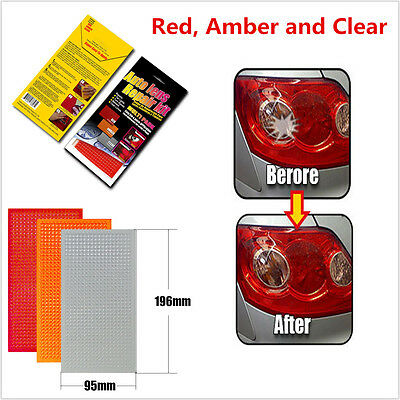 Car LED Tail Light Turn Signal Clear Lens Scratch Repair Kits Tool 3-Color Pack