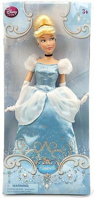 Disney Store Princess Cinderella Classic Doll in Blue Ball Gown Poseable NIB NEW