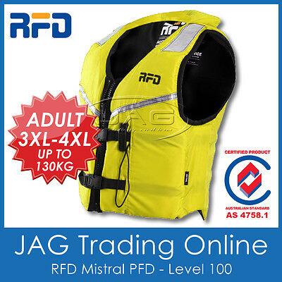 RFD MISTRAL 3XL-4XL 70+KG ADULT PFD LIFE JACKET 100N - Level 100 Lifejacket/Vest