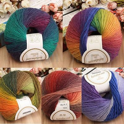 Super Soft Cashmere Yarn Ball Baby Natural Smooth Wool Cotton Knitting 50g HOT