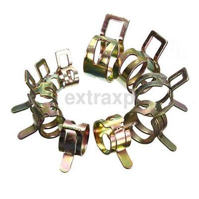 10Pcs Petrol Pipe Clips Spring Steel for Motorcycle etc to Secure Fuel Hose UK
