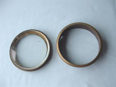 "Antique 4.25"" dia. Brass Hinged Door &   4.25""dia. brass rim / frame"