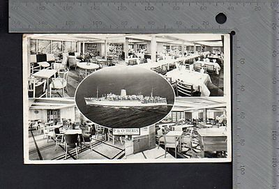 Shipping - P & O Iberia Public Tourist Rooms RP Multiview 1955