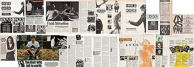 INXS : CUTTINGS COLLECTION -interviews adverts-