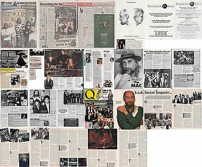 FLEETWOOD MAC : CUTTINGS COLLECTION -interviews adverts -