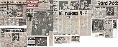 STATUS QUO : CUTTINGS COLLECTION -interviews- 1970s