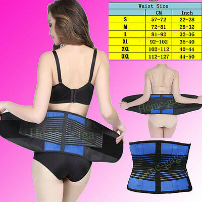 AU Magnetic Back Support Lumbar Brace Belt Double Pull Strap Lower Pain Girdles