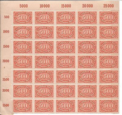 germany thjird reich inflation lot mnh
