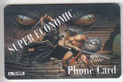 Bd Comics Telecarte / Phonecard .. Italie 10.000L Xline Jeu Video Games  +N°