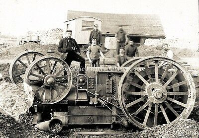 Tr 129  Photo Traction Engine Serious Mishap