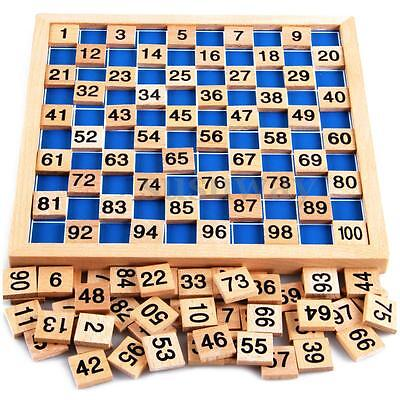 Wooden Educational 1 to 100 Counting Number Child Kids Intellectual Maths Games