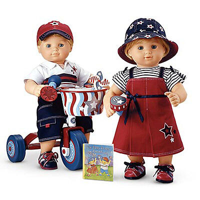 American Girl Bitty Twin Parade * Red & Blue for Two Outfits* RETIRED * MINT/BOX