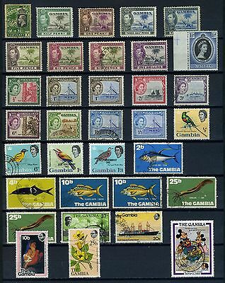 Gambia KGV to QEII small selection good used & mint