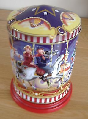 Musical Tin Metal Container For Biscuits Sweets Jingle Bells