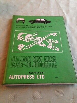 Hilman Minx Singer Gazelle Owners Handbook Workshop Manual 1966- 1970