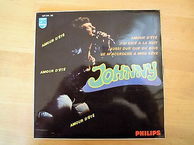 """Johnny Hallyday:amour D'ete+ 3""""-Rare Spain 7'1967-Rare Cover-Collectors-See!!"""