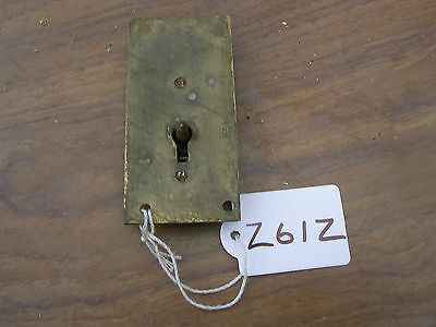 Antique Brass Cabinet Lock Double Prong