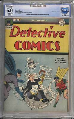 Detective Comics # 99  The Temporary Murders ! CBCS 5.0 scarce Golden Age book !