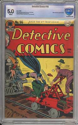 Detective Comics # 96  Alfred, the Detective ! CBCS 5.0 scarce Golden Age book !