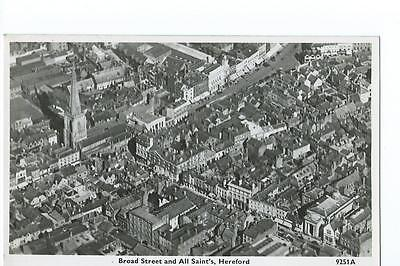 Herefordshire aerial RP of Broad Street and All Saint's Hereford @1930s