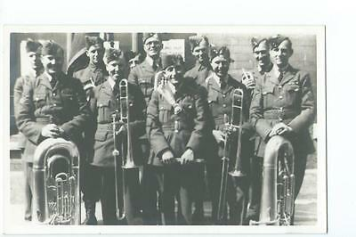 Herefordshire RP of an RAF band at Hereford in 1941
