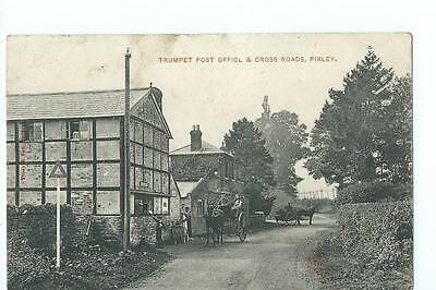 Hereforedshire printed view of Trumpet Post Office PU 1912