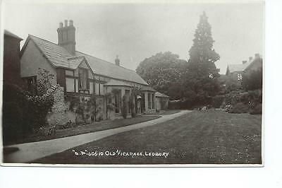 Herefordshire RP of the old Vicarage, Ledbury @1908
