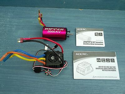 Electric 1/8 Rc Buggy Thunder Tiger Eb4 G3 Ripper Brushless Motor Esc Combo