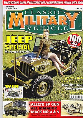 Classic Military Vehicle Magazine - August 2011 - Jeep Special