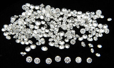 *Hot Deals* 10 Pic  1.3mm  White Round Loose Diamond(Star)