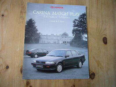Toyota Carina Matchplay folder brochure, c1990, excellent condition