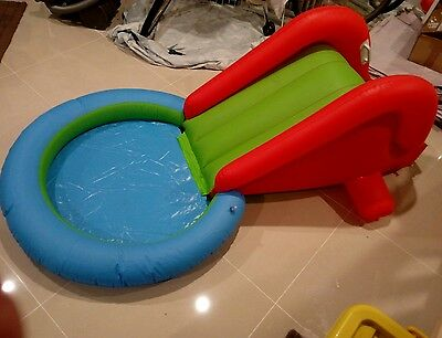 Inflatable Kids Ball Pit with Slide Outdoor Indoor Play Toy