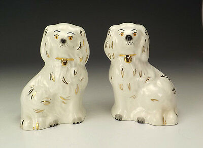 Vintage Beswick Pottery Pair Of Staffordshire Style Miniature Dogs - Lovely!