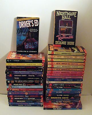 Lot of 40 Young Adult Horror PB Books R.L. Stine Cooney Nightmare Hall Hoh