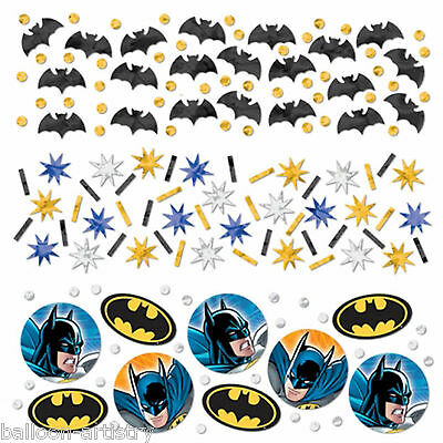 DC Comic BATMAN Gotham Hero Child's Party Confetti Table Sprinkles Triple Pack