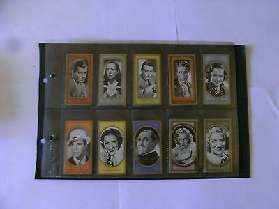 Full Set x 50 Carreras Cards. + Sleeves.  Film Favourites.  1938.