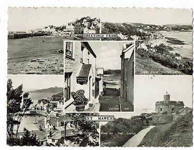 Cornish Post Card Real Photo Greetings From St.mawes