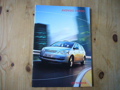 Toyota Avensis Verso brochure, 2004, excellent condition