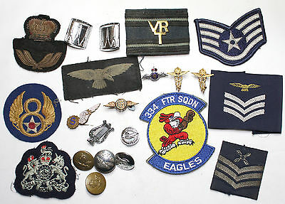 22 various RAF, USAAF, Aircraft related military badges