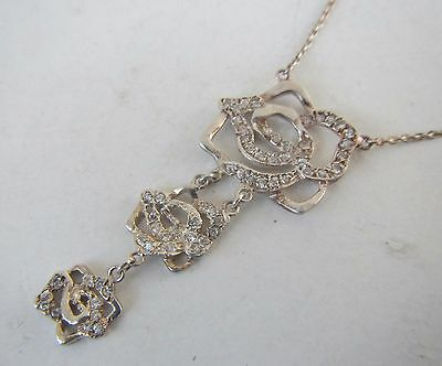 Sterling Silver 925 Necklace with Hanging Pendant