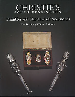 CHRISTIES 1998 Auction Catalogue Of THIMBLES and Needlework Accessories