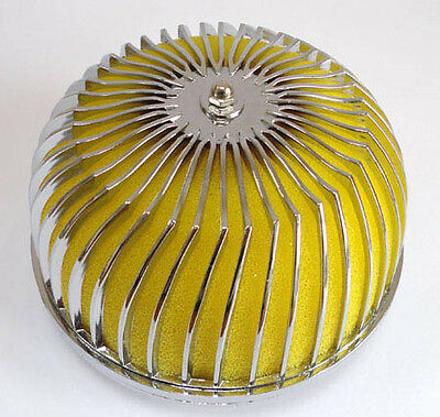 YELLOW PERFORMANCE AIR FILTER UNIVERSAL 76 mm I/D